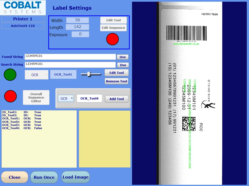 Inline label inspection | Fisher Smith Ltd